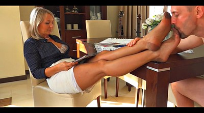 Mature foot, Footing, Stocking foot, Mature stockings