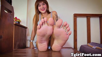 Asian feet, Shemale feet