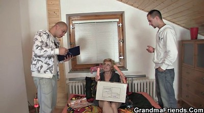 Skinny granny, Old young threesome, Mature threesome, Blonde skinny