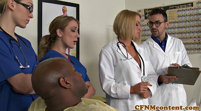 Cfnm, Sucking dick, Nurses, Black men