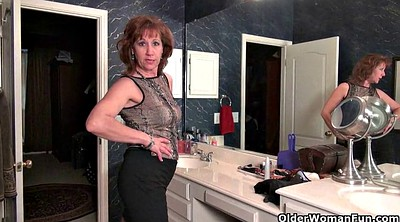 Bathroom, Mature pantyhose