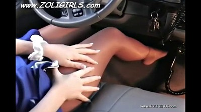Pantyhose foot, Pantyhose feet, Teen pantyhose, Feet tease, Tease, In the car