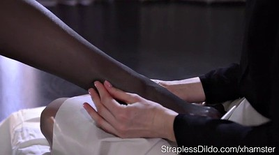 Pantyhose foot, Tribbing, Lesbian feet, Foot massage