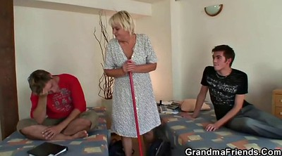 Old woman, Mature threesome