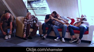 Granny gangbang, Teen double, Old teen, Seduction, Old men, Old anal teen