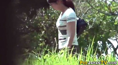 Japanese teen, Japanese peeing, Japanese outdoor, Japanese public