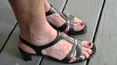 Shoes, Milf feet, Mature feet