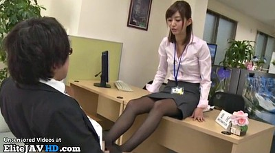 Footjob, Japanese foot, Pantyhose, Office, Japanese massage, Japanese pantyhose
