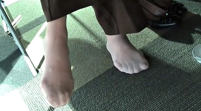 Nylon foot, Nylon feet, Foot fetish, Library, Candid