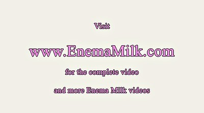 Milk, Enema, Masturbation squirt, Enemas, Solo squirt, Milk solo