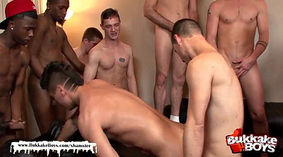Bukkake, Gay gangbang, First gangbang, First gay, First big cock