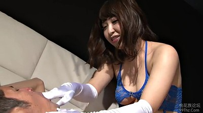 Gloves, Japanese handjob, Gloves handjob, Japanese gloves