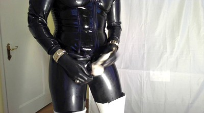 Boots, Latex, Latex boots, Handjob gay