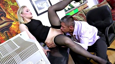 Secretary, Black stockings, Hollywood, Stocking anal