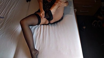 Stocking, High heels, Stockings masturbating
