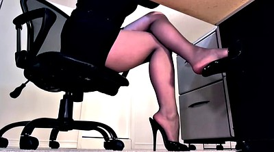 Foot, High heels, Pantyhose footjob