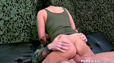 Eva, Soldiers, Soldier, Riding dick, Chubby milf
