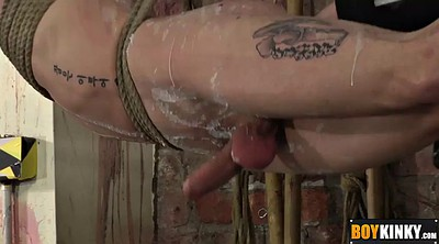 Torture, Spank gay, Like, Tied up handjob, Tied cock