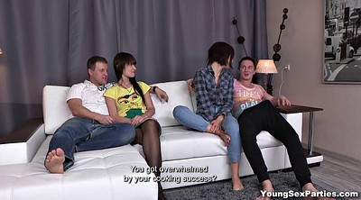 Foursome, Young couple, Young young, Teen couple