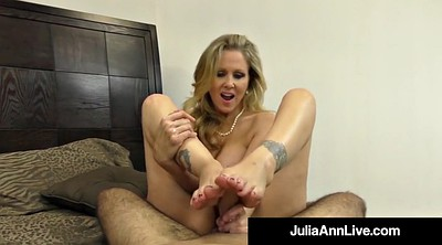Julia ann, Hand, Mature foot, Mature feet, Foot hand, Julia ann foot