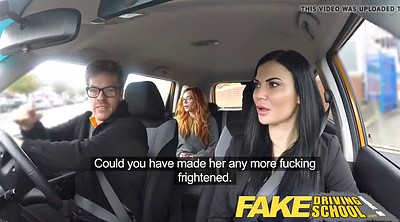 Fake tits, Fake driving school, Driving school, Driving