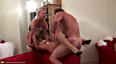 Old, Mom boy, Mature gangbang, Mature boy
