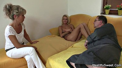 Teen and old, Granny mature