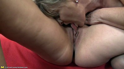 Old and young, Mature lesbian, Mom daughter, Mature love, Double granny