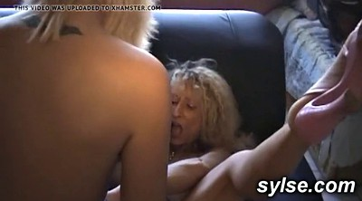 French, Strapon, Mature lesbians, Lesbian anal strapon, French mature