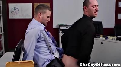 Muscle, Office anal, Muscle gay, Anal office