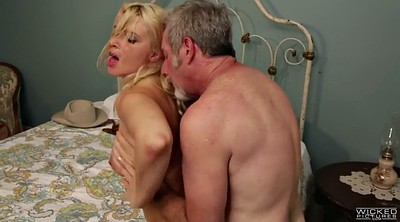 Hairy young, Anikka albrite, Hairy man, Young blonde with old man, Older man, Anikka albrit