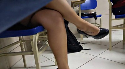 High heels, Leggings, Legs, Shoeplay, Tatoo, Brazilian feet