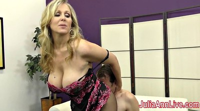 Julia ann, Femdom, Stockings foot, Stockings feet
