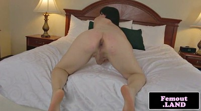 Spreading, Ass spreading, Big natural tits solo