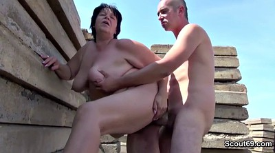 Seduce, Young hairy, Public german, Old fuck young, German granny