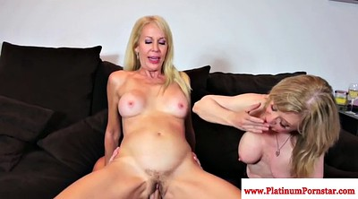 Milf threesome, Young guy, Two milfs, Two guys