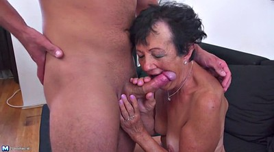 Old, Old and young, Granny and young, Granny and boy, Mature and young boy, Boy milf
