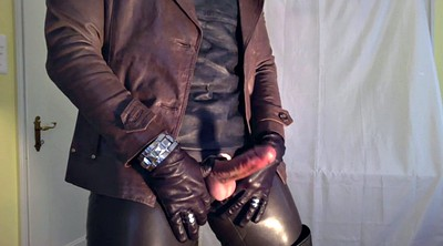 Leather, Ebony shemale
