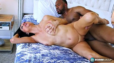 Mature interracial, Ebony big tits