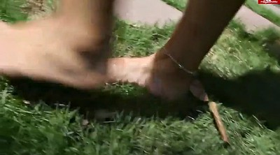 Foot, Footjob, Foot fetish, Park