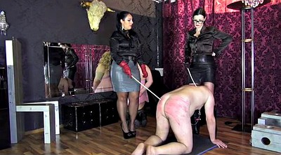 Double, Caning, Femdom spank, Caned