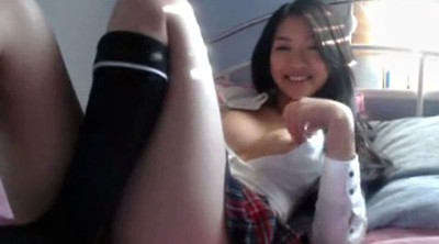 Korean, Webcam, School girl