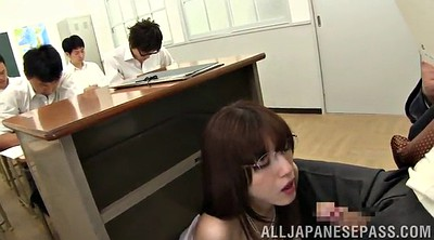 Glasses, Asian teacher, Teachers, Handjob cumshot, Teacher handjob, Award