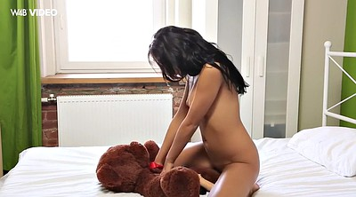 Bear, Russian cute, Strapon solo, Teen solo orgasm, Teen orgasm, Solo strapon