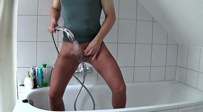 Nylon, Shower, Gay pantyhose
