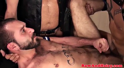 Trio, Gay rough, Rough threesome, Cream, Barely