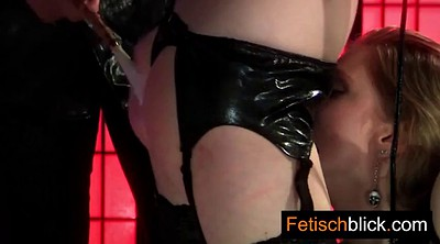 Latex, German anal, Bitch, Skinny bdsm, Licking pussy, Latex bondage