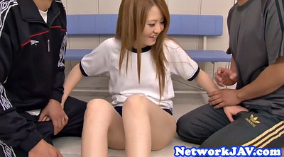 Threesome, Asian teen, Japanese schoolgirl