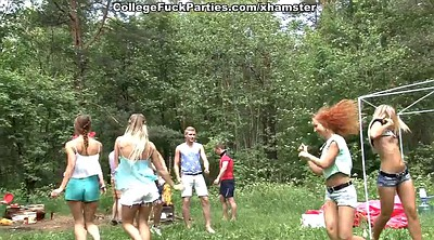 Lesbian, College, Outdoor anal, Lesbian party