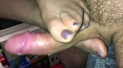 Nylon feet, Nylon footjob, Polish